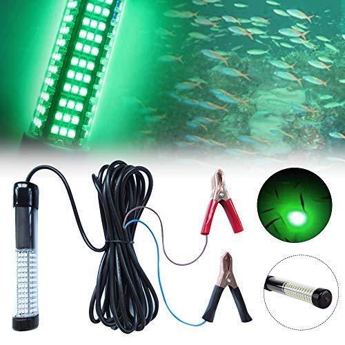 Lixada 10W 180 LED Subacuático Sumergible Luz de Pesca Nocturna (Verde) Pesca...