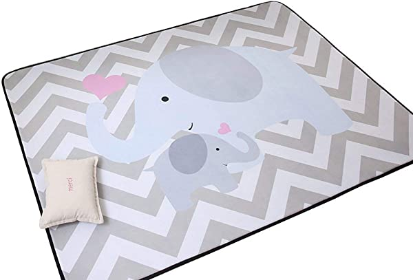 IHEARTYOU Elephant Mommy And Baby Thicken Extra Lagre Foam Kids Play Mat Baby Rug Soft Non Slip Baby Crawling Mat Playmats Kids Rug Baby Gym Mat 0 8 Thick