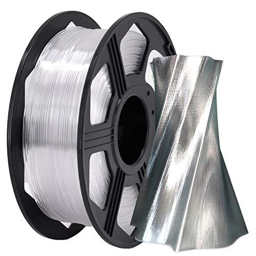 YOYI 3D Printer Filament,PETG Filament 1.75mm 2.2lbs(1kg) Spool, Dimensional Accuracy +/- 0.03 mm,100% Europe Raw Material(Clear)