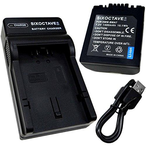 [SIXOCTAVE] Panasonic パナソニック 互換バッテリー DMW-BMA7 & USB 急速互換充電器 カメラ バッテリー チャージャーDE-A43AD 2点セット [ 残量表示可能 純正品と同じよう使用可能 純正互換電池ともに充電可能 ] LUMIX ルミックス DMC-FZ50 / DMC-FZ30 / DMC-FZ7 / DMC-FZ8 / DMC-FZ18 / DMC-FZ28 / DMC-FZ38 等対応