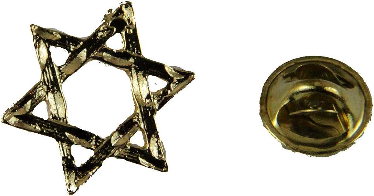Pins & Brooches 6030259 Star of David Lapel Pin Jewish Hanukkah Jew Synagogue Temple Israel Gift