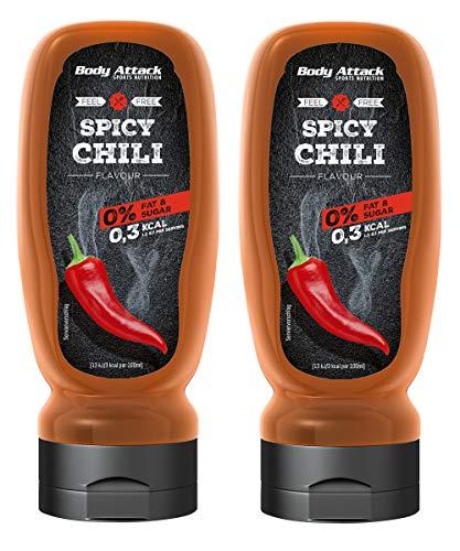 Body Attack Sports Nutrition, Grill Saucen, 2 x 320ml (Spicy Chilli)