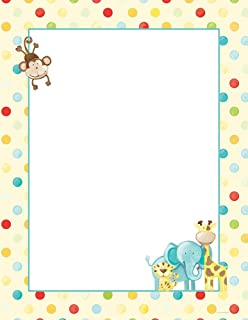 Great Papers! Baby Zoo Animals Letterhead, 80 Count, 8.5