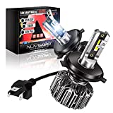 NOVSIGHT H4/9003 LED Headlight Bulbs, 12000 Lumen 300% Brighter Hi/lo Conversion Kit, 60W 6500K Cool White, Extremely Fast Cooling Halogen Replacement