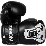 Tigon Tiger - Guantes de Boxeo para niños, Color Negro, tamaño 397 g