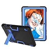 Koolbei Case for Walmart Onn 10.1 Inch Tablet, Heavy-Duty Drop-Proof and Shock-Resistant Rugged Hybrid case(with Built-in Stand), for Walmart Onn Android Tablet 10.1 Inch(ONA19TB003)Case (Black/Blue)