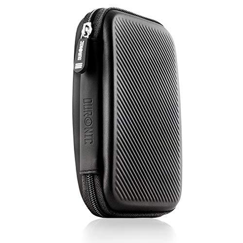 Duronic HDC2 Kleine Schwarze Schutzhülle für Externe Festplatte – kompatibel mit Western Digital, Toshiba, Buffalo, Hitachi, Seagate, Samsung und viele mehr