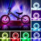 Accesorios de bicicleta para niños,Luces de neumáticos,Radios de bicicleta,Luces de radios,Luces de rueda recargables,Rueda de bicicleta con,Luces rueda bicicleta,Luces rueda bicicleta recargables (A)