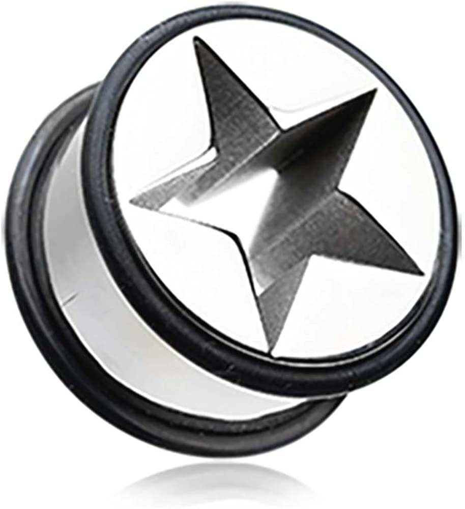Nova Star Solid Steel Cheap mail order specialty store No Flare Mail order cheap Ear Tunnel Gauge - Plug 25mm 1