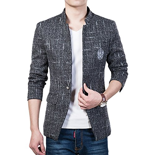 YOUTHUP Heren Blazer Slim Fit Moderne Tweed Jas Korte Type Stijlvolle Jas