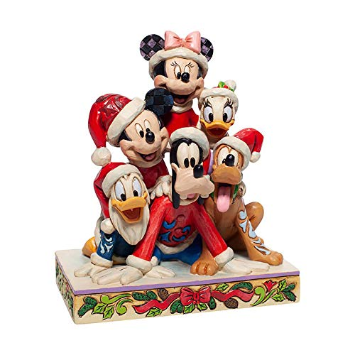 Enesco Disney Traditions By Jim Shore Christmas Mickey and Friends Figurine