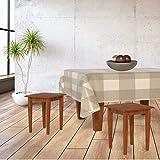 Lileno Home - Mantel lavable por metro, beige a cuadros, 180 x 140 cm (Schnittkante)
