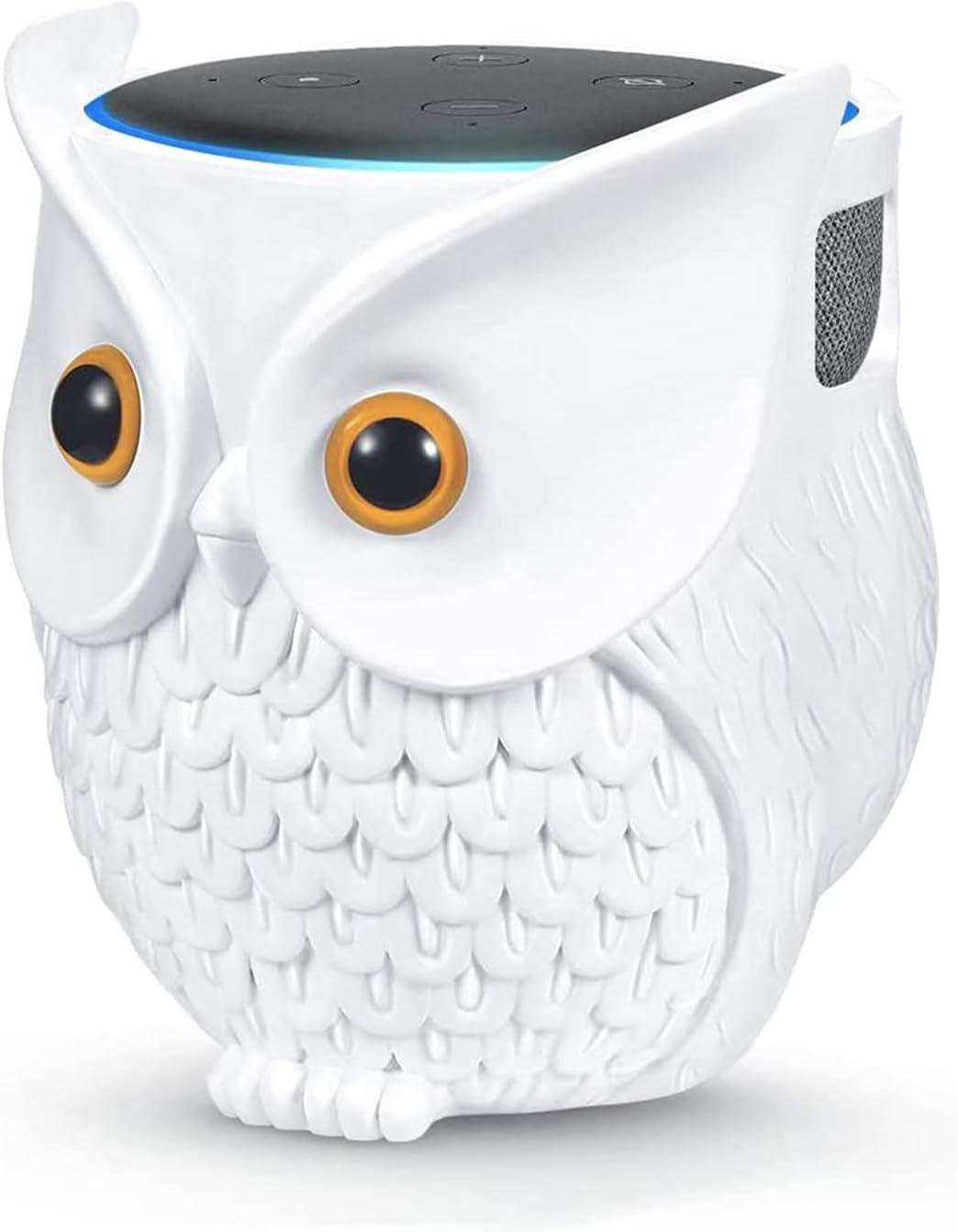 Ctoiotc Owl Holder Stand, Upgraded Owl Statue Smart Speaker Holder Stand for Echo Dot 4th/3rd/2nd and 1st Generation, Google Home Mini/Google Nest Mini (2nd Gen), Home Decor Owl Shape Cartoon Decor
