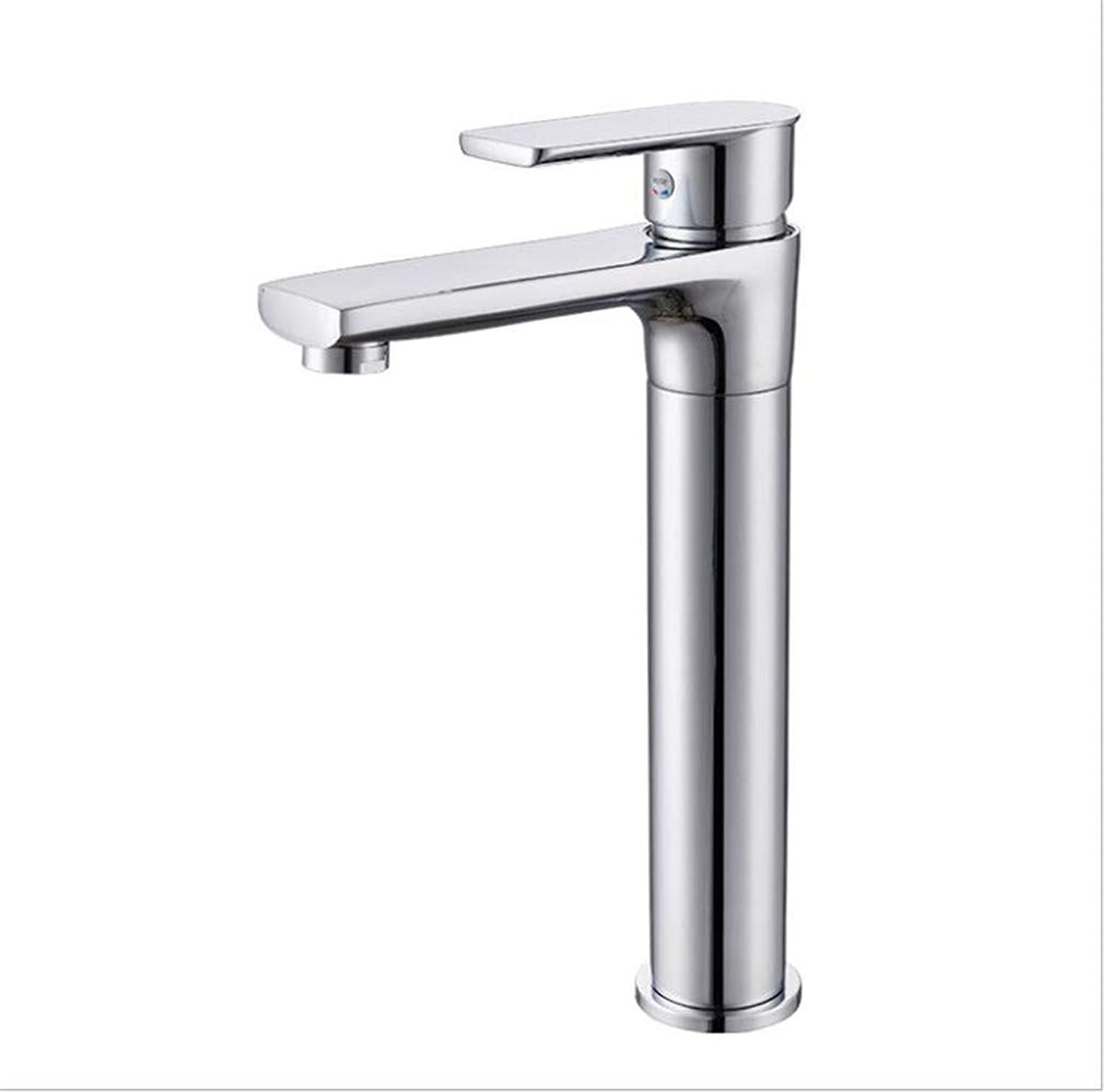 Bathroom Sink Basin Lever Mixer Tap Cold and Hot Bathroom Faucet with Copper-Plated Washbasin