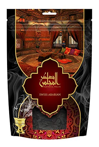 Muattar Al Majlis (250g/.55 lb) Oudh Wood Bakhoor Incense | Scented Exotic Arabic Bukhoor | Use with Traditional Middle Eastern Charcoal/Electric Burner | by Oud Perfume Artisan Swiss Arabian
