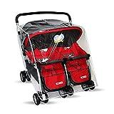 Funda para cochecito de bebé doble para protección al aire libre, funda para cochecito de bebé, accesorios (lado a lado)