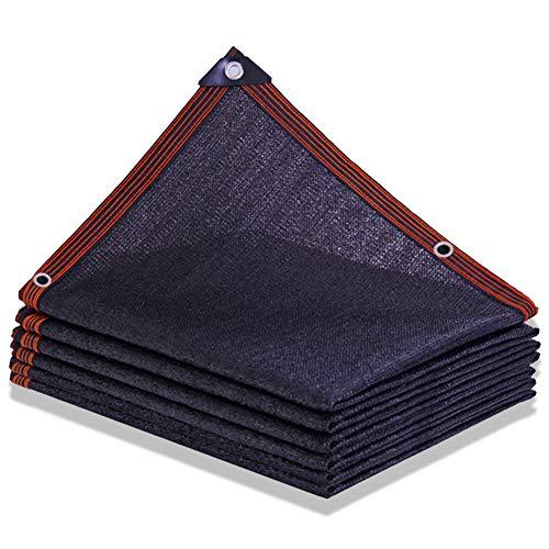 Chunlan Noir Filet D'ombrage Épaissi Taux D'ombre 95% Toile D'ombre Hemming avec Trou De Corde Patio Balcon Filet D'ombrage pour Plantes Imperméable Pare-Brise(Size:5x10m)