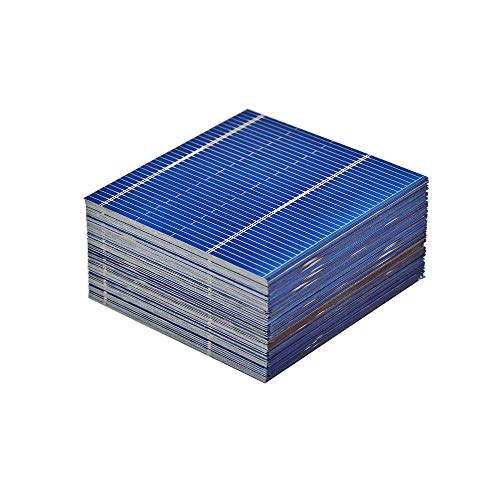 AOSHIKE 100pcs Micro Mini Solar Cells Panels 0.5V 0.46W Polycrystalline Silicon Solar Panels DIY Cell Phone Charging Battery 52 x 52mm/2x2inches