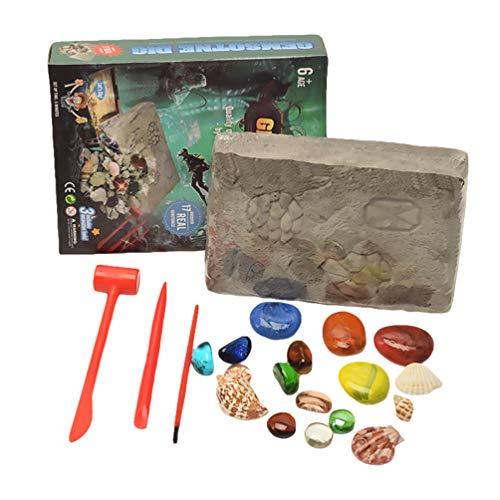 STOBOK Kit de Excavación de Piedras Preciosas Kit de Excavación de Gemas Descubrimiento de Tesoros Gran Regalo para Niños Fiesta Arqueología Paleontología Ciencia Educativa