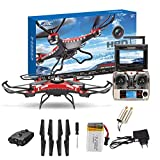 Meet&sunshine JJRC H8D 6-Axis Gyro 5.8G FPV RC Quadcopter HD Camera with Monitor + 2PC Motor for Indoor Outdoor Activities Games