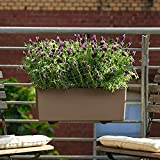 Macetas Para Plantas Maceta de Flores Jardinera colgante Pared de plástico Lavabo de almacenamiento de agua Piso Rectangular Maceta para balcón Valla Jardineras montadas en la pared Interior Exterio