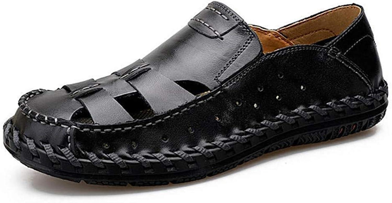 Yydt Men's shoes Outdoor Sports shoes Summer Beach shoes Hole shoes Men's Personality Beach Sandals Men's shoes (color   9.5 UK)