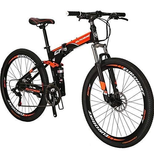 Eurobike Folding Mountain Bicycles 27.5 inch Wheel Bike G7 (orange)