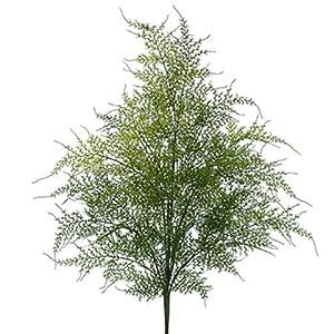22″ Plastic Asparagus Fern Silk Plant -Green (Pack of 12)