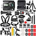 Neewer G2 4K WiFi Sports Action Camera with Touch Screen Ultra HD Waterproof DV Camcorder 12MP 4K/30FPS EIS 170 Degree Wide Angle WiFi Sports Cam with Remote/Battery and 50-in-1 Accessories Kit from Neewer