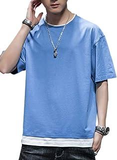 J.STORE [ジェイストア] tシャツ メンズ 半袖 無地 重ね着風 大きいサイズ ゆったり 五分袖 夏服 ビック