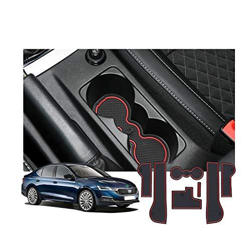 YEE PIN Rubberen matten Octavia MK3 Accessoires Interieur anti-slip matten voor middenconsole opbergbox autoonderdelen interieur
