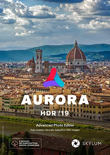 Aurora HDR 2019 française licence d'utilisation pour 5 appareils, Windows / MAC, code d'activation par mail, l'éditeur HDR le plus avancé au monde avec intelligence artificielle