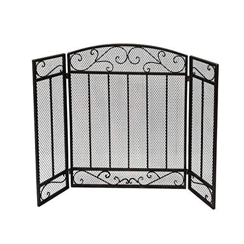 Buy Christopher Knight Home Cheswold Contemporary Three Panel Fireplace Screen by Black Gold N/A