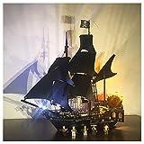 K99 Iluminación de Bloques de construcción LED, Compatible con Lego 21313 PIRATOS DE LOS Bloques DE CONSTRUCCIÓN DE Perlas Black del Caribe, Lighting DE DIY Creativo (Modelo Lego no Incluido)