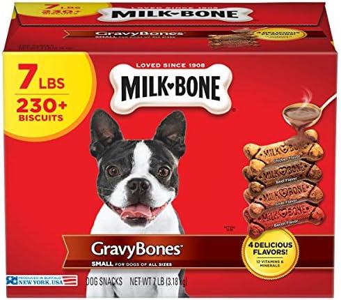 Milk Bone Gravy Bones Dog Treats 4 Meat Flavors Variety Pack 7 Pound Box product image