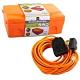 Masterplug WBXO-MP Kit de caja resistente a la intemperie con cable de extensión BOG10O-MP de 10 m (naranja)