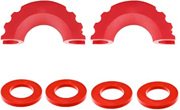 MuHize Red D-Ring Shackle Cover 2 Pcs Shackle Isolators and 4 Pcs Washers, Isolators Washers Kit Fits 3/4 inch Shackles Gear Design Rattling Protection (Pack of 2)