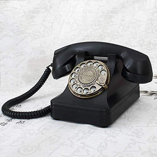 YUEZPKF Schön Telefon, Telefon, Festnetztelefon Pastoral Antique Telefon Retro/Telefon/Retro-Stil Telefon/Vintage Telefon/Klassischer Schreibtisch mit geschweifter Kabel und authentischer Glockenring