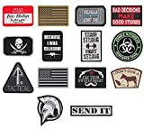 Eybros Tactical Morale Patch, 14 Bundle-Set, Military Patches Funny for Backpacks Hat Army Gears Etc.