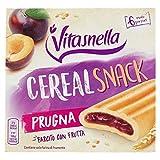 Vitasnella Snack Cereal, con Farcitura alla Prugna, 162g...