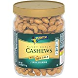 PLANTERS Fancy Whole Cashews with Sea Salt, 26 oz. Resealable Jar | Made with Simple Ingredients | Good Source of Vitamins and Minerals | Kosher