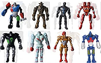 Lot x 8 Real Steel Noisy Boy Midas Atom Twin Cities PVC Action Figure Movie WA#2 Kids Action Figure Toys Robot Kids Toys