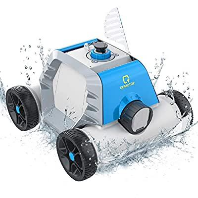 OT QOMOTOP Robotic Pool Cleaner, Cordless Automatic Pool Cleaner with Battery for In-Ground/Above Ground Swimming Pool