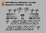 Ecoshirt BX-RU6D-F3BR Pegatinas Santa Cruz V10 F129 Stickers Aufkleber Decals Autocollants Adesivi, Negro