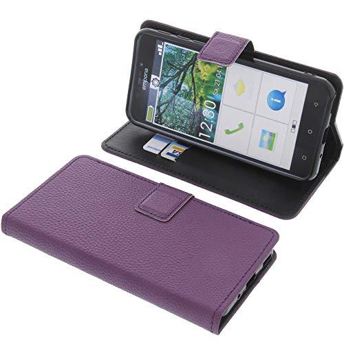 foto-kontor Tasche für Emporia Smart 3 Book Style lila Schutz Hülle Buch