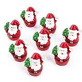 10 miniature, Babbo Natale, rosso/bianco/verde, 3,5 cm, giveaway, regalo per clienti, articolo promozionale, decorazione o regalo di Natale