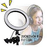 Kathariiy Tragbares Selfie-Licht – 20,3 cm / 25,4 cm LED-Ring-Licht, LED-Lampe für Live-Stream, YouTube-Video oder Make-up, 20cm - 8inch -