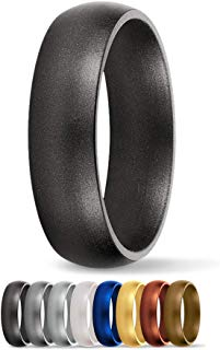 SafeRingz Silicone Wedding Ring, 6mm, Made in The USA, Men or Women, Size 4-13