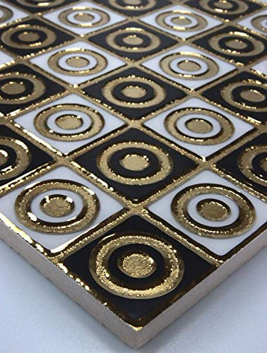 1 Matte Wandfliesen Fliesen Keramik Glänzend Glasiert Gold Weiß Schwarz 30x30