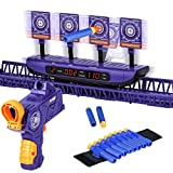FOR21JOYS Running Shooting Targets for Nerf Guns,Electric Target Scoring Auto Reset Upgraded 4 Games Modes for Kids Shooting Outdoor Games,Ideal GiftsToys for Kids, Teens and Boys Girls